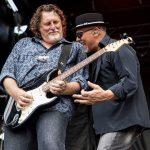 Original guitarist Glen Willows with George - photo by Dana Zuk
