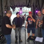 Original bassist Ralph James, George, the promoter, Gary and Mike Kroeger (from Nickelback)